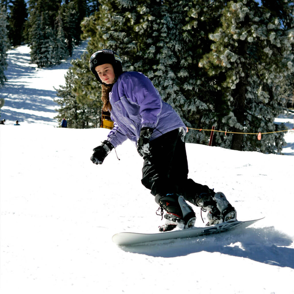 Blue Angel Snow offers children and teens ski and snowboard camps on five Saturdays