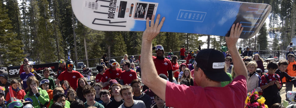 Sponsor Giveaway Day, courtesy of Ride Snowboards. Blue Angel Snow at Sierra at Tahoe