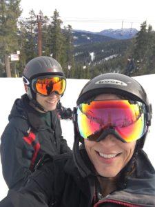 Blue Angel Snow ski camp parent volunteer and participant at Sierra at Tahoe