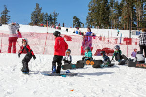 Sierra-At-Tahoe Ski and Snowboard Instructors teach Blue Angel Snow Ski Camp for Kids